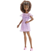 Barbie Fashionista Doll - Purple Lace Romper Aa-Petite