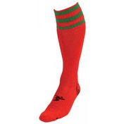 PT 3 Stripe Pro Football Socks Mens Red/Green