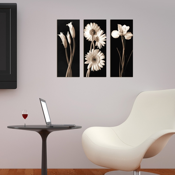 XTP065 Multicolor Decorative Framed MDF Painting (3 Pieces)