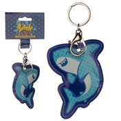 Fun Leatherette Shark Keyring