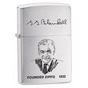 Zippo Founders Brushed Chrome Windproof Lighter