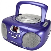 Groov-e GVPS713PE Boombox Portable CD Player with Radio Purple UK Plug