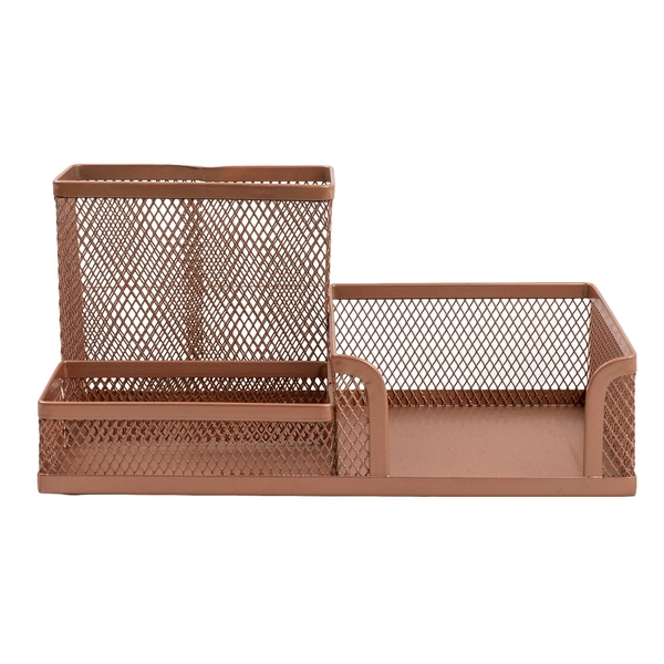 Rose Gold Metal Stationery Holder 20.3 cm