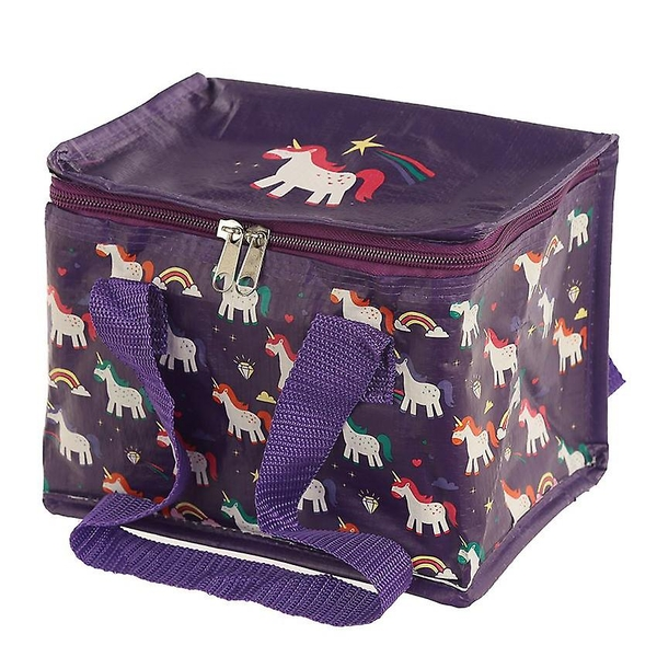 Rainbow Unicorn Design Lunch Box Cool Bag