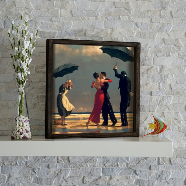 KZM547 Multicolor Decorative Framed MDF Painting