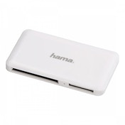 Hama Slim USB 3.0 SuperSpeed Multi Card Reader (White)