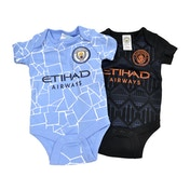 Man City Two Pack Body Suit Home and Away 9-12 Months