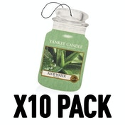 Aloe Water (Pack Of 10) Yankee Candle Car Jar Air Freshener