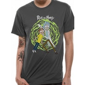 Rick And Morty - Spiral Men's X-Large T-Shirt - Grey