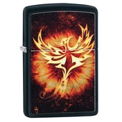 Zippo Phoenix Design 2 Black Regular Windproof Lighter