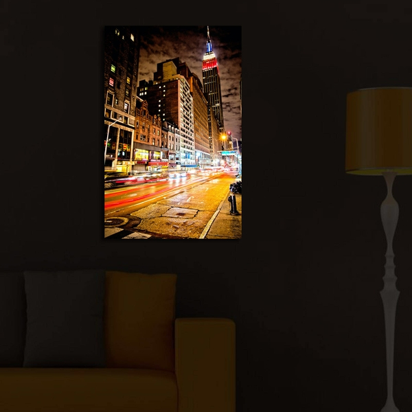 4570?ACT-33 Multicolor Decorative Led Lighted Canvas Painting