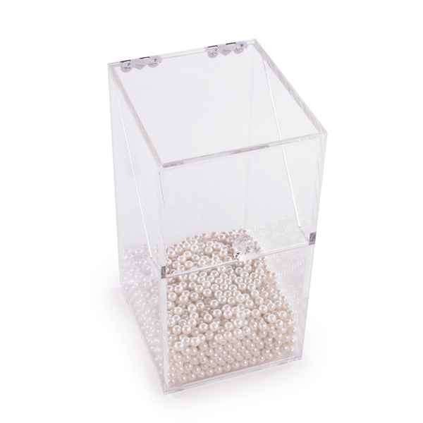 Makeup Brush Holder with Pearls   Pukkr