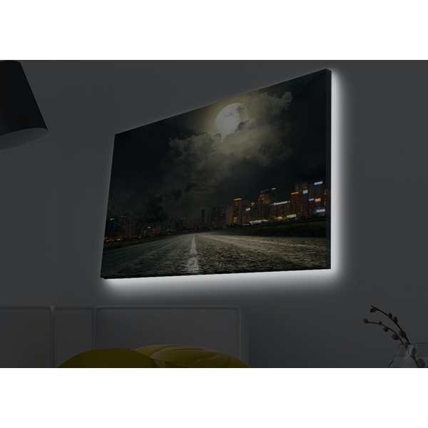 4570MDACT-023 Multicolor Decorative Led Lighted Canvas Painting