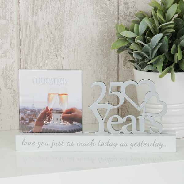 Celebrations Cut Out Photo Frame - 25 Years
