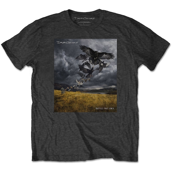 David Gilmour - Rattle That Lock Men's Large T-Shirt - Charcoal Grey