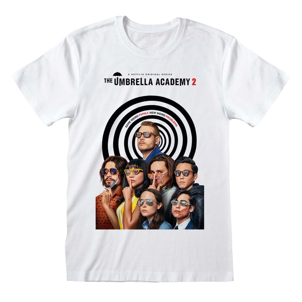 Umbrella Academy - Season 2 Poster Small T-Shirt - White
