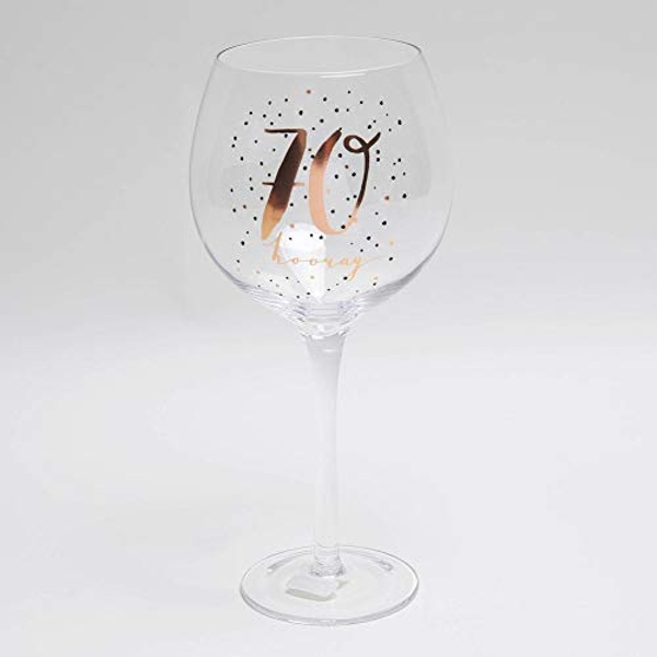 Luxe Birthday Gin Glass with Rose Gold Foil - 70