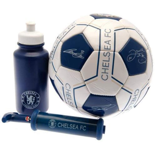 Chelsea FC Signature Gift Set size 5 football with bottle and pump