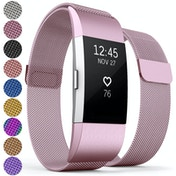 Proworks FitBit Charge 2 Milanese Metal Strap - Pink