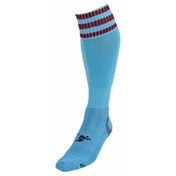 PT 3 Stripe Pro Football Socks Boys Sky/Maroon