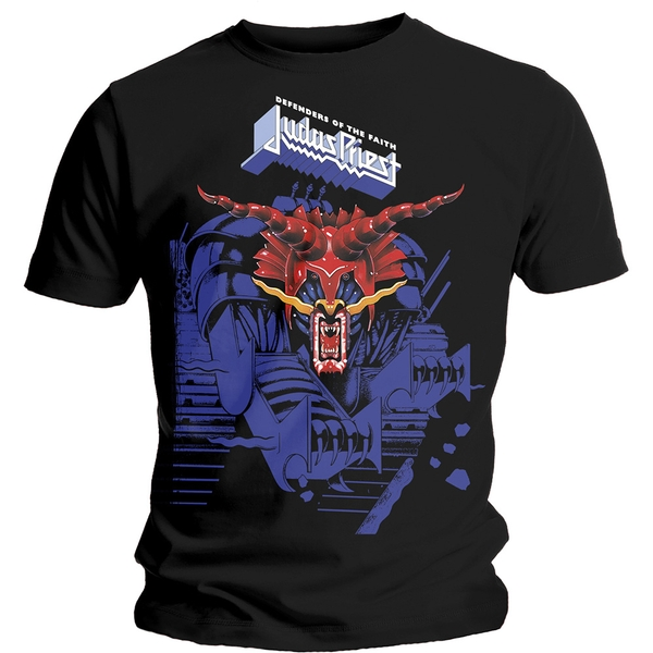Judas Priest - Defenders Blue Unisex Medium T-Shirt - Black