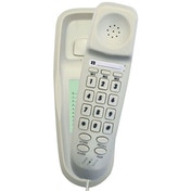 Tel UK Slim Corded Telephone Bilbao White