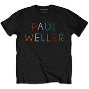 Paul Weller - Multicolour Logo Men's Large T-Shirt - Black
