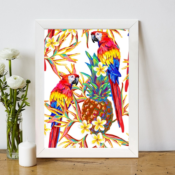 BC577111918 Multicolor Decorative Framed MDF Painting