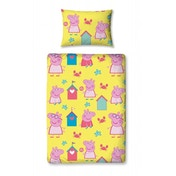 Peppa Pig Seaside Junior Rotary Single Duvet Pillow & Duvet Cover Set
