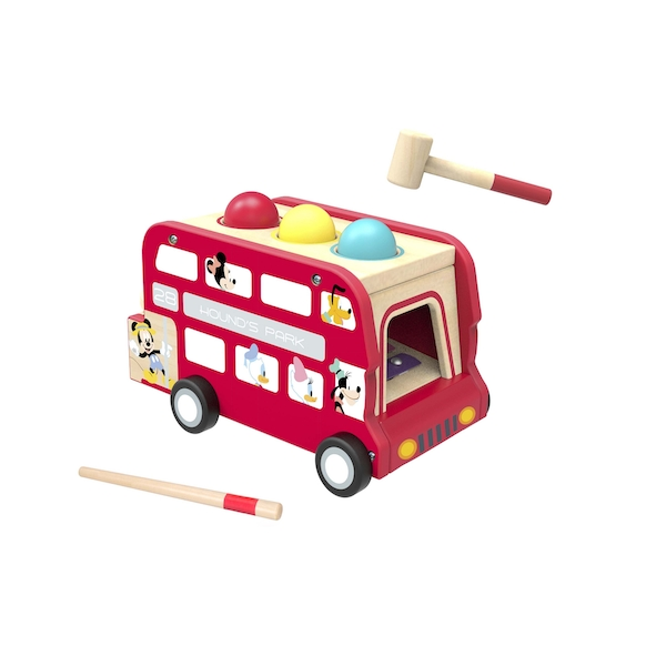 Disney Wooden Mickey Punch Ball & Xylophone Bus