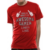 CID Originals - Awesome Gamer Men's Large T-Shirt - Red
