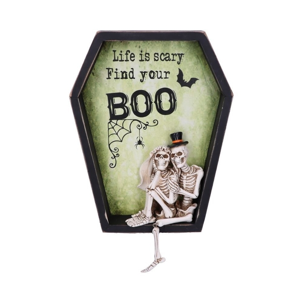 Life is Scary Find Your Boo Wall Plaque