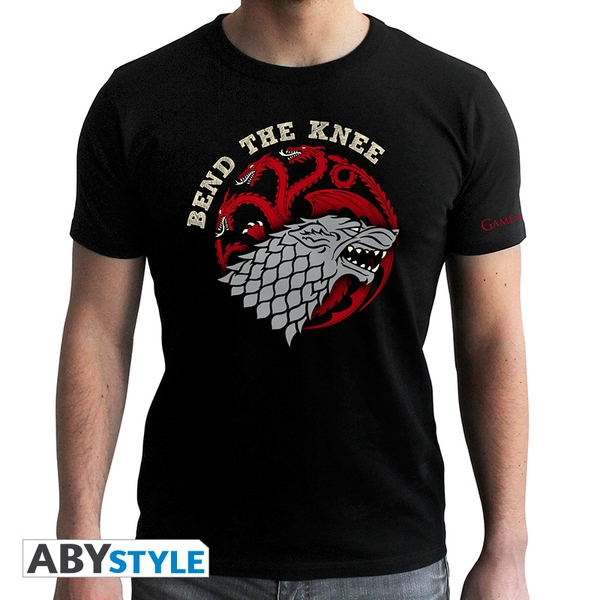 Game Of Thrones - Bend The Knee - Men's Small T-Shirt - Black