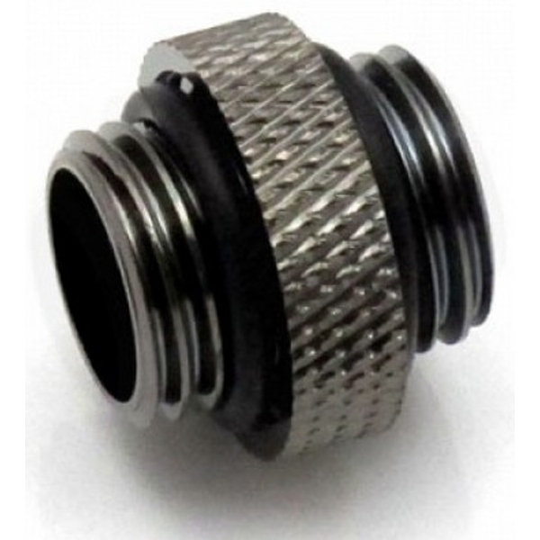 """XSPC G1/4"""" 5mm Male to Male Fitting (Black Chrome)"""