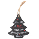 Santa Was Right Xmas Slate Decoration Pack Of 6