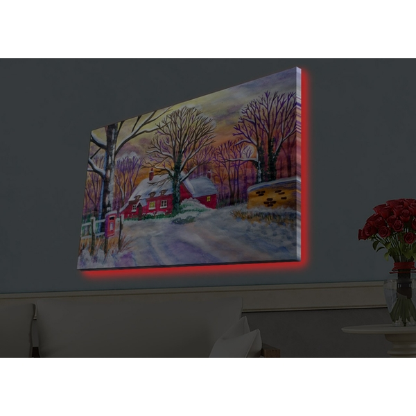 4570HDACT-043 Multicolor Decorative Led Lighted Canvas Painting