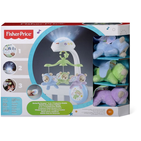 Fisher-Price 3-in-1 Butterfly Dreams Mobile [Damaged Packaging]
