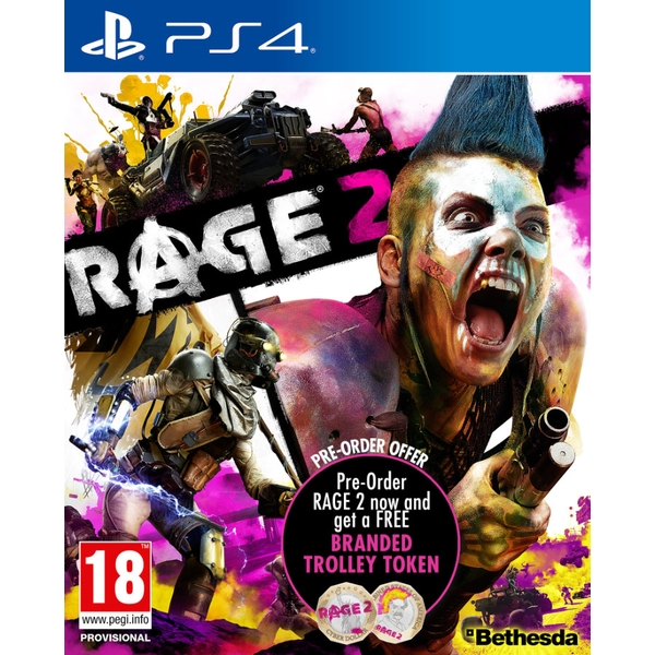 Rage 2 PS4 Game (with Trolley Token and Bonus DLC)