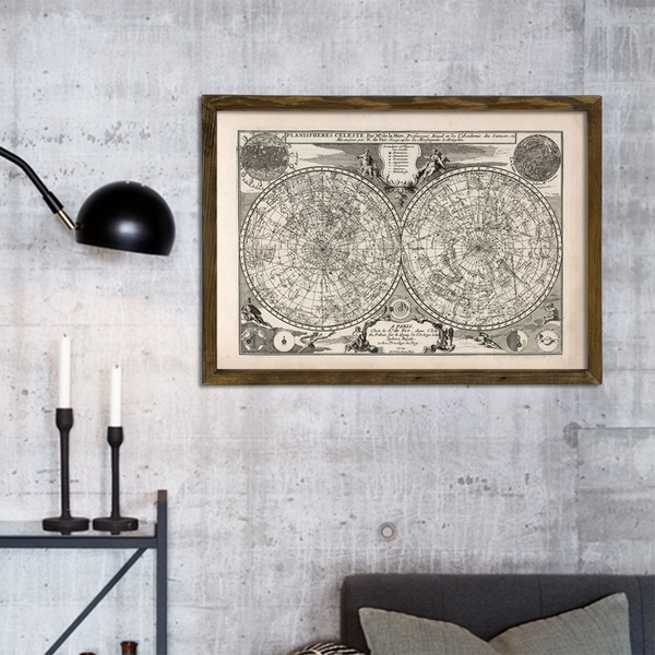 Map018 Multicolor Decorative Framed MDF Painting