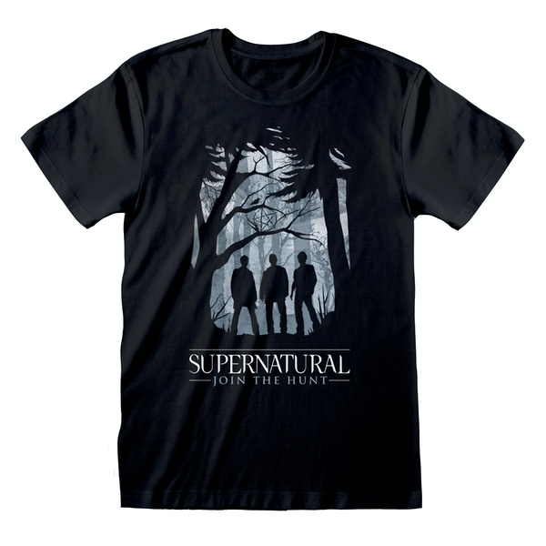 Supernatural - Silhouette Unisex X-Large T-Shirt - Black
