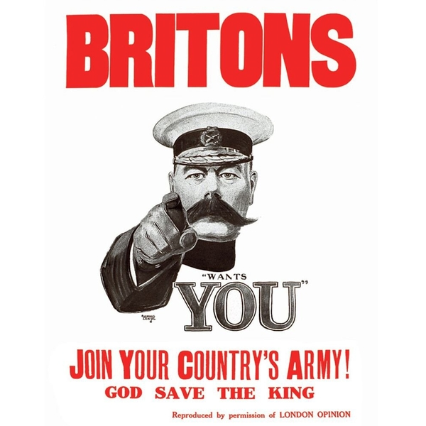 Vintage Metal Sign Retro Propaganda Join Your Countrys Army