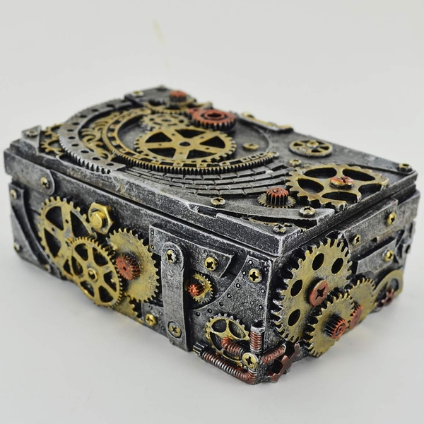 Steampunk Mechanical Cog Box