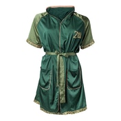 Nintendo Legend of Zelda: Breath of the Wild Logo Women's Small/Medium Satin Bath Robe - Green