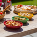 Set of 6 Multicolour Oval Tapas Dishes Suitable for Oven & Dishwasher Use | M&W - Image 2