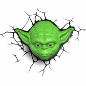 Star Wars 3D Deco Wall Light - Yoda Face