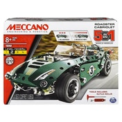 Meccano 5 Model Set - Roadster with Pull Back Motor