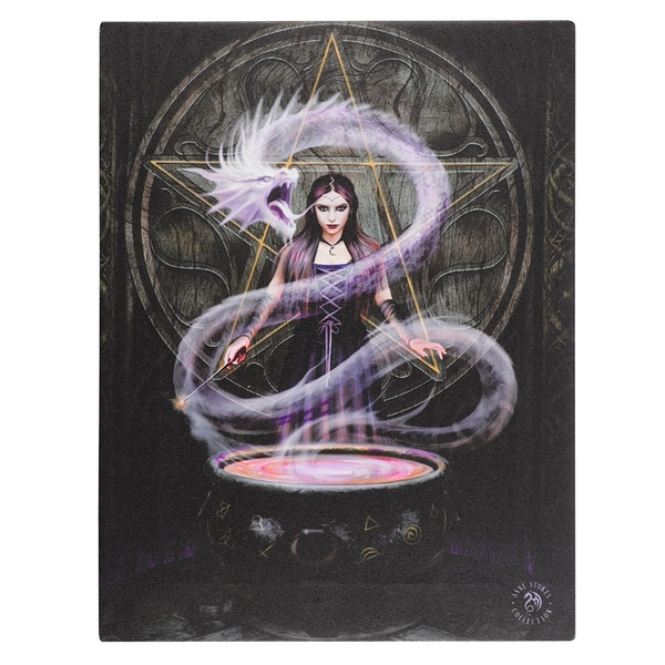 50x70 The Summoning Canvas Plaque By Anne Stokes