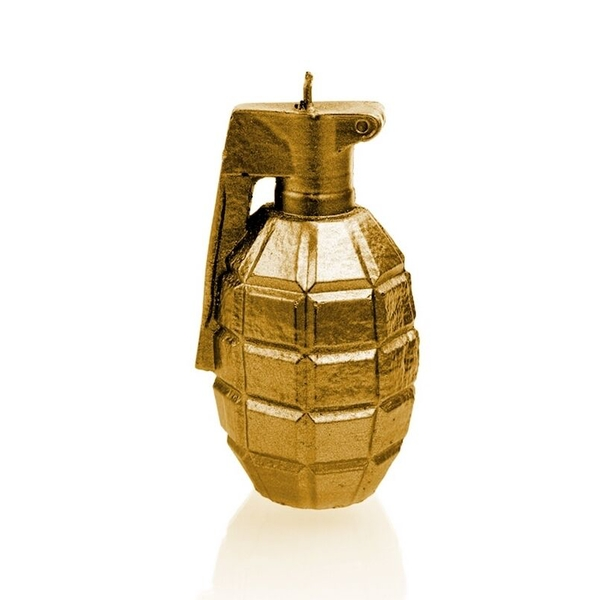 Gold Large Grenade Candle
