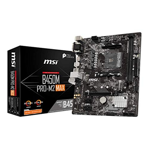 Image of MSI B450M PRO-M2 MAX motherboard AMD B450 Socket AM4 micro ATX