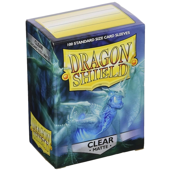 Dragon Shield Matte - Clear 100 Sleeves in box - (10 Packs)